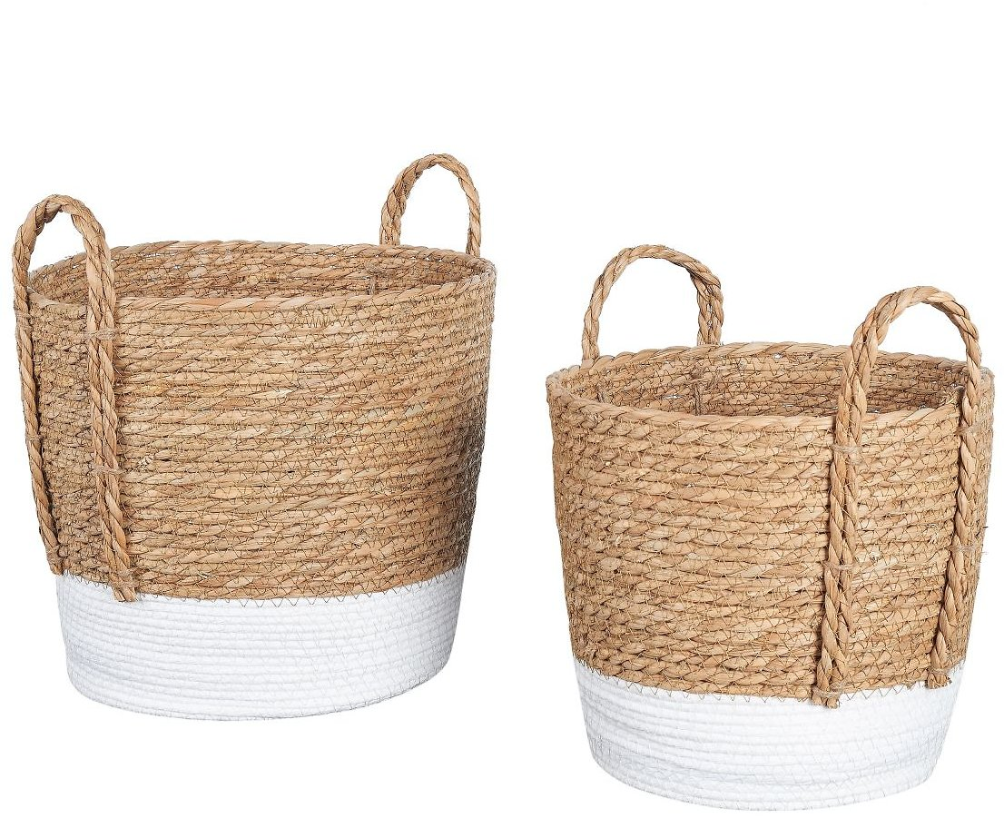 Set of 2 - Mainstays Seagrass & Paper Rope Baskets