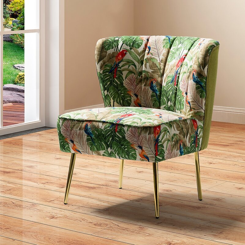 Amata 26'' Wide Tufted Polyester Side Chair