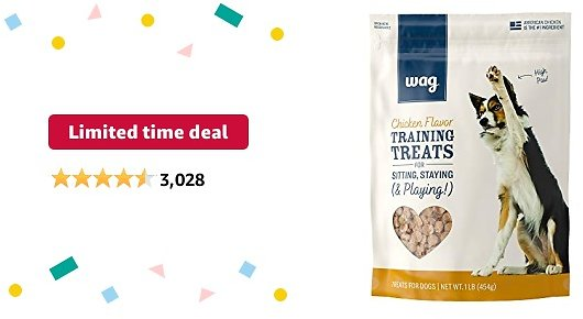 Limited-time Deal: Amazon Brand – Wag Training Treats for Dogs (Chicken, Peanut Butter & Banana, Hip & Joint)