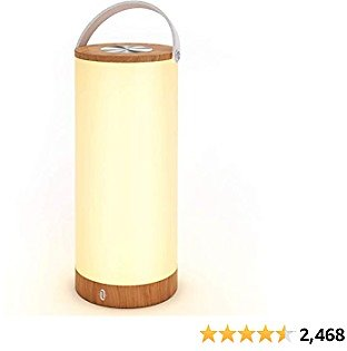 TaoTronics Rechargeable Bedside Table Lamp Touch Sensor Portable Lantern with Memory Function and 4000mAh Battery, Dimmable Night Lights for Bedroom, Living Room, Office, Outdoor Camping