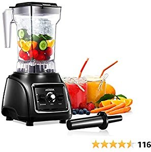 60% Off Professional Countertop Blender, AICOOK 1800W Smoothie Maker Blender for Kitchen 11-Speed
