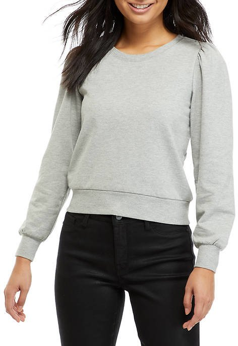 Almost Famous Junior's Puff Sleeve Pullover