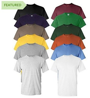 6 Pack of Moisture Wicking Anti-Microbial Performance Short Sleeve T-Shirts in Assorted Colors
