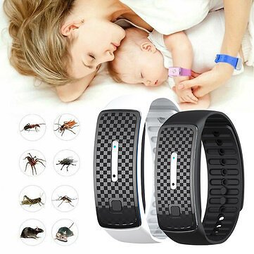 Ultrasonic Mosquito Repellent Bracelet Waterproof Pest Insect Bugs Anti Mosquito Wristband Ultrasound Outdoor Mosquito Watch