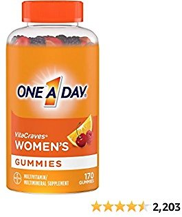 One A Day Women's Multivitamin Gummies, Supplement with Vitamin A, Vitamin C, Vitamin D, Vitamin E and Zinc for Immune Health Support*, Calcium & More, 170 Count