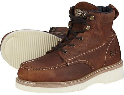 Gravel Gear Men's 6in. Moc Toe Wedge Work Boots| Northern Tool