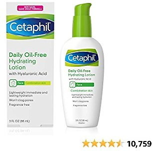 Cetaphil Face Moisturizer, Daily Oil-Free Hydrating Face Lotion with Hyaluronic Acid, 3 Oz Package May Vary