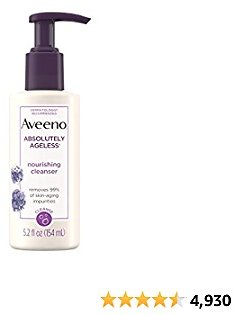 Aveeno Absolutely Ageless Nourishing Daily Facial Cleanser.