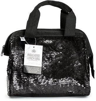 Insulated Sequin Bowler Tote