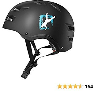 Automoness Skateboard Bike Helmet Multi Sports Cycling Scooter Inline Roller Skating Longboard 3 Sizes Adjustable Lightweight Ventilated Protective Helmet for Kids Youth Adults