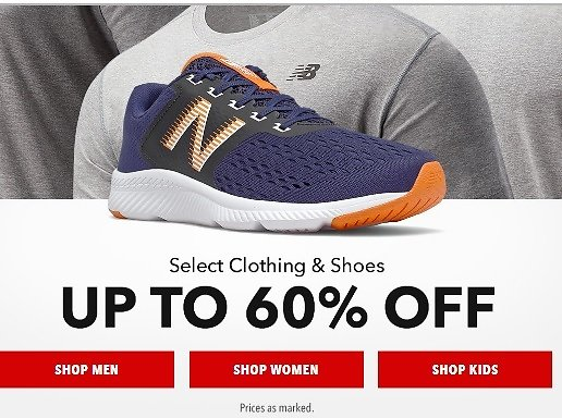 Up to 60% Off +Free Shipping Joe's New Balance Outlet Sale