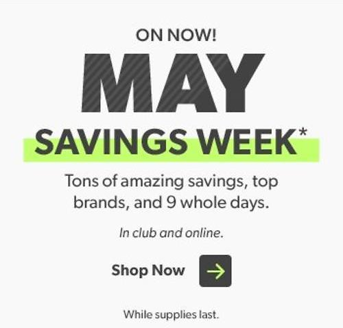 May Instant Savings Preview - Sam's Club