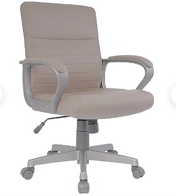 Staples Tervina Luxura Mid-Back Manager Chair, Cream (56905)