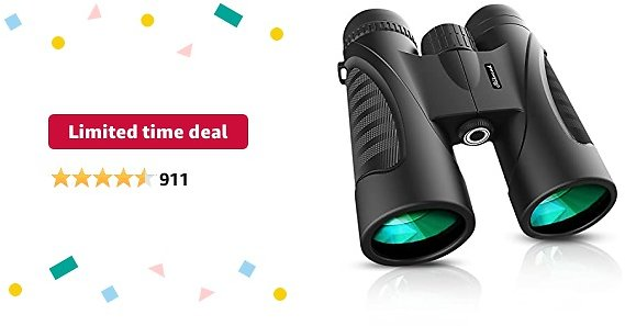 Limited-time Deal: Binoculars for Adults 12 X 50 High Powered for HD Waterproof Zoom, Powerful Binoculars with Clear and Durable BAK-4 Prism FMC Lens for Bird Watching, Travel, Hunting, Concerts, Football.