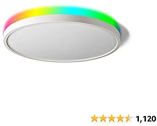 TALOYA Alexa Ceiling Light Smart, WiFi, Compatible with Google, 15.8 Inch Modern Dimmable Flush Mount LED Light Fixture for Living Room Office Kitchen, 28W RGBW