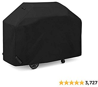 SunPatio BBQ Grill Cover 70 Inch, Outdoor Heavy Duty Waterproof Barbecue Gas Grill Cover, UV and Fade Resistant, All Weather Protection for Weber Charbroil Kenmore Brinkmann Grills and More, Black