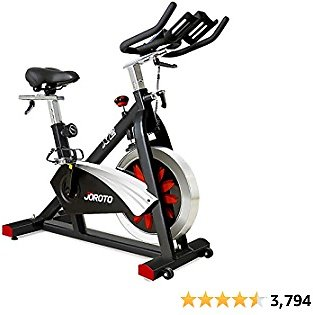 JOROTO Belt Drive Indoor Cycling Bike with Magnetic Resistance Exercise Bikes Stationary ( 300 Lbs Weight Capacity ) (Updated)
