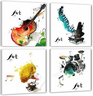 Canvas Wall Art Music Instruments Picture Guitar Painting for Home Decor