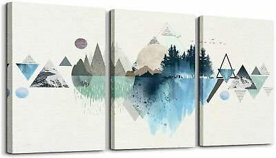 Mountain Wall Decor Abstract Landscape Wall Art Painting for Living Room Bedroom