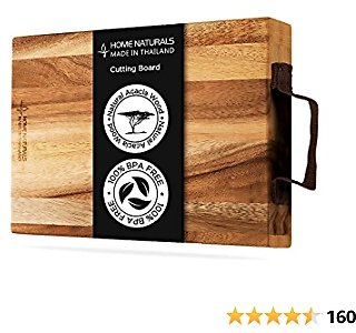 Home Naturals 100% Organic Wood Cutting Board with Cloth Handle $14 @Amazon