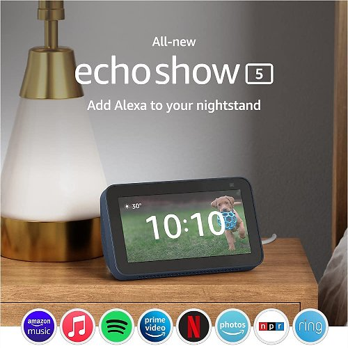 All-new Echo Show 5 (2nd Gen, 2021 Release)  Smart Display with Alexa and 2 MP Camera (Pre-order)