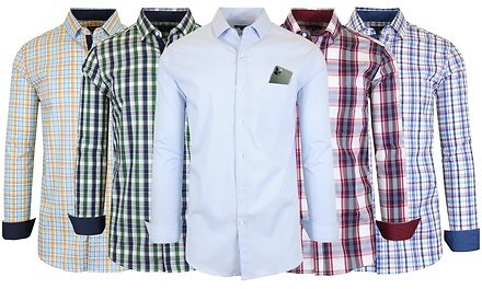 98%OFF| Galaxy By Harvic Men's Breathable Peformance Quick-Dry Long Sleeve Dress Shirts