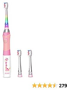 Kids Electric Toothbrush Sonic Toothbrush, Soft Battery Powered Tooth Brush with Smart Timer...