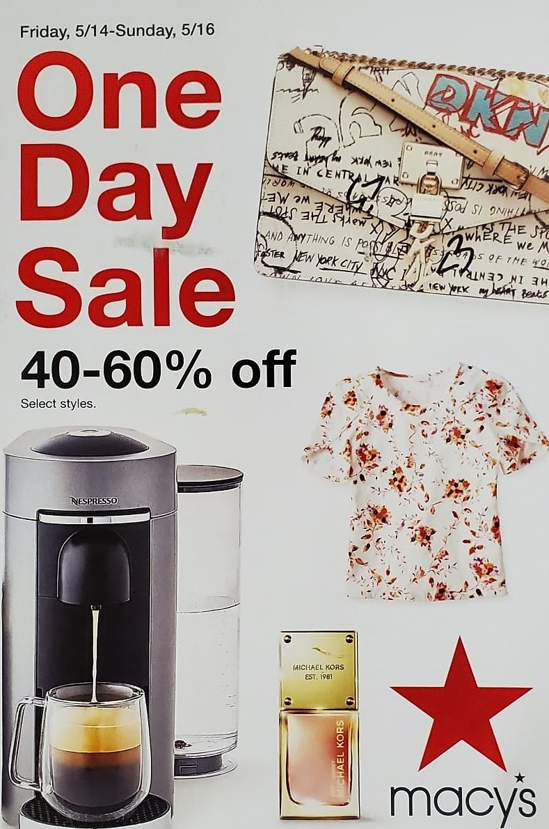 Up To 60% Off One Day Sale - Macy's (5/14)