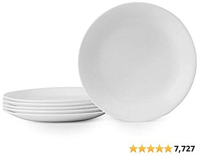 Corelle Winter Frost White Lunch Plates Set White.
