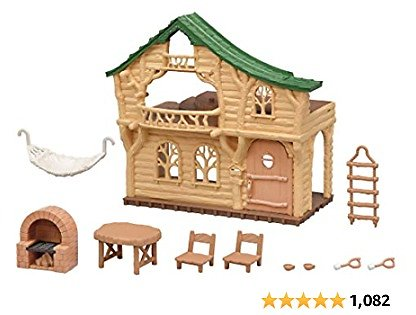 Calico Critters Lakeside Lodge Gift Set, Collectible Dollhouse with Figures, Furniture and Accessories