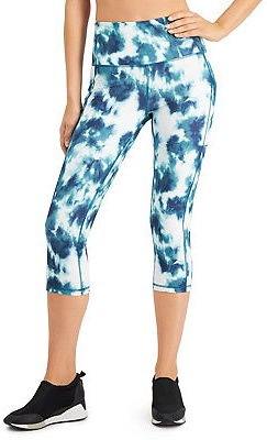 62% Off Tie-Dyed High-Waist Cropped Leggings