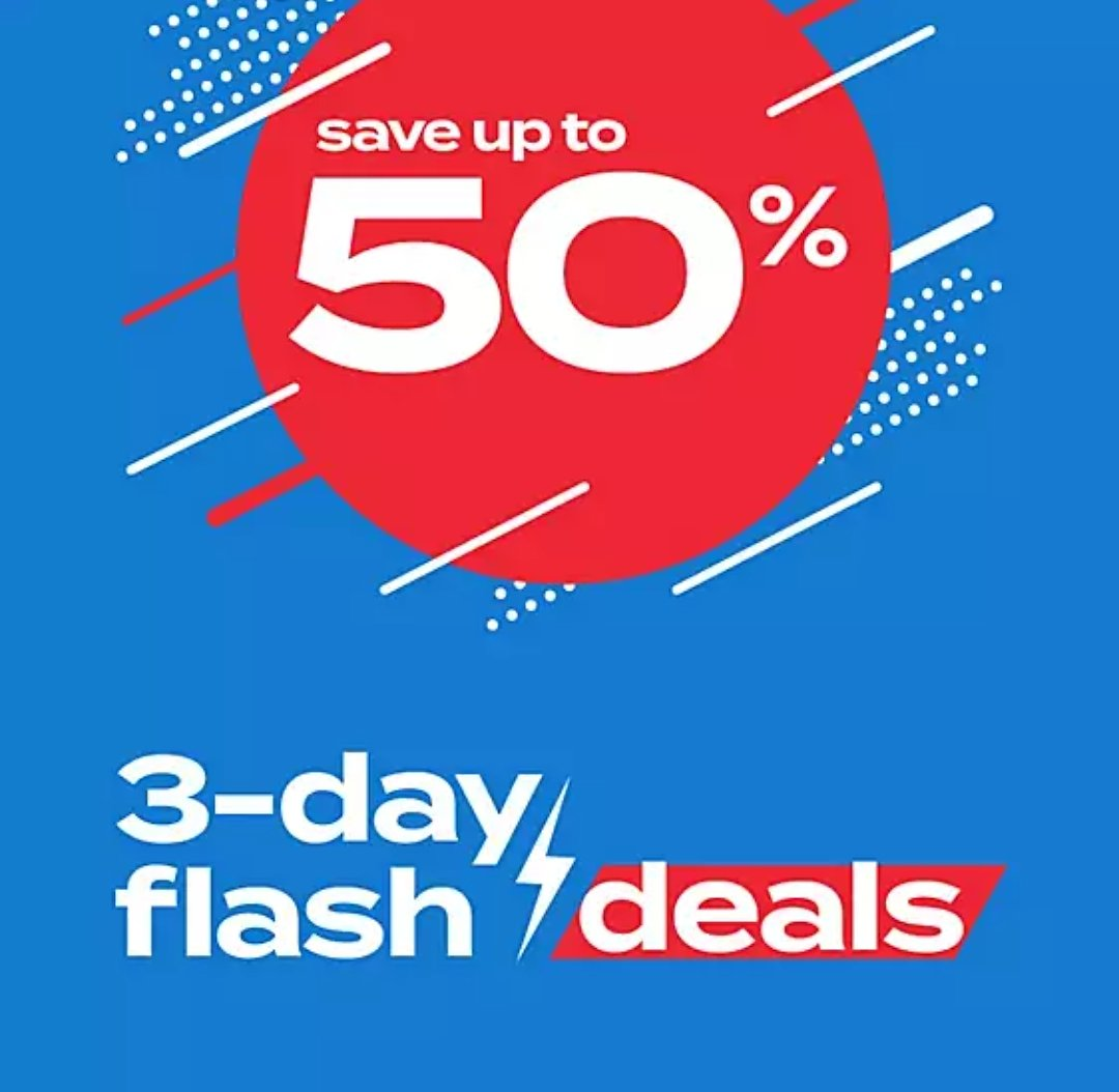 Up to 50% Off 3-Day Flash Deals