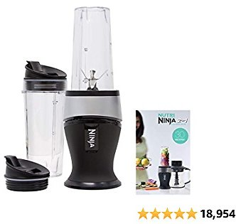 Ninja Personal Blender for Shakes, Smoothies, Food Prep, and Frozen Blending Cups with Spout Lids