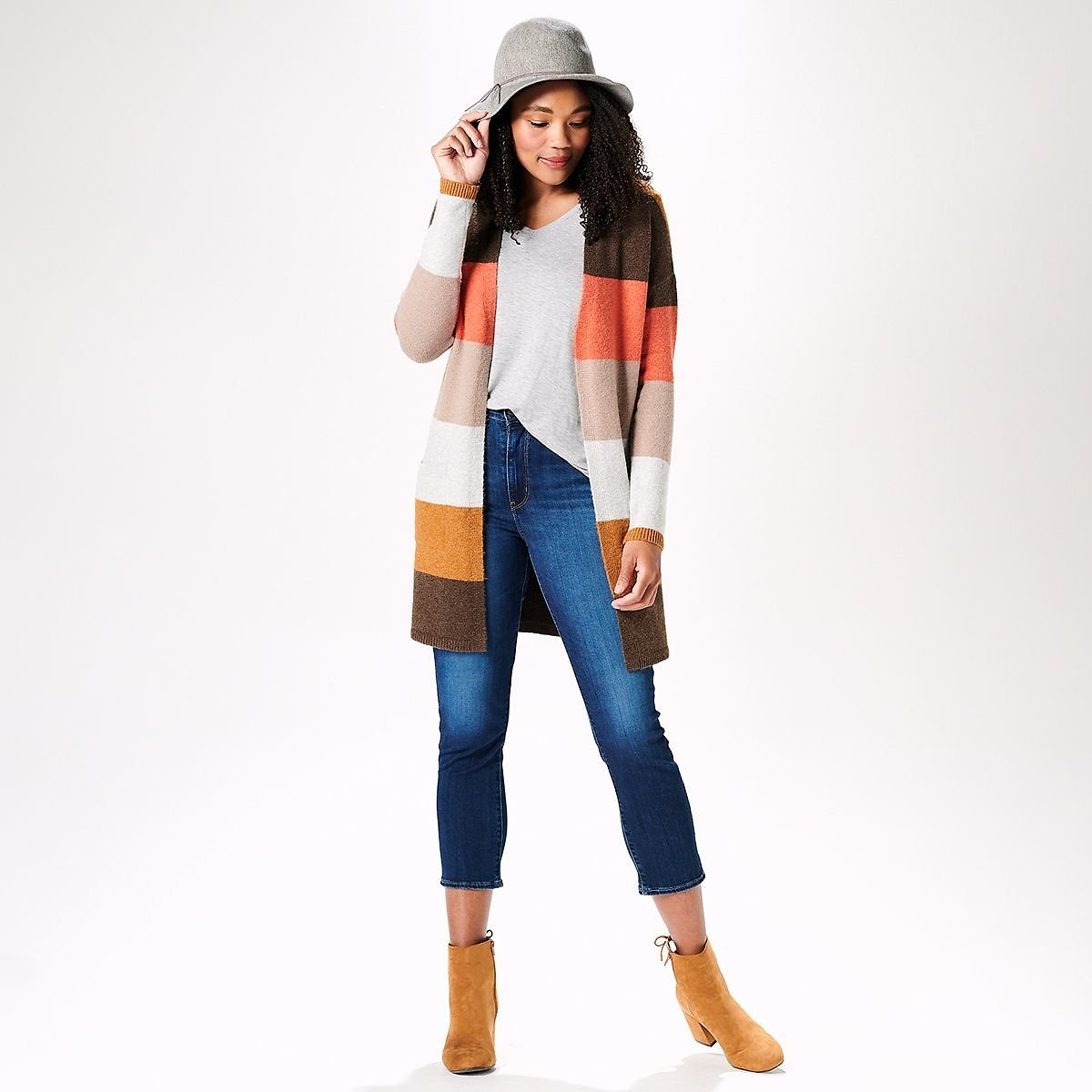 Women's Fall Colors Outfit Cardigan