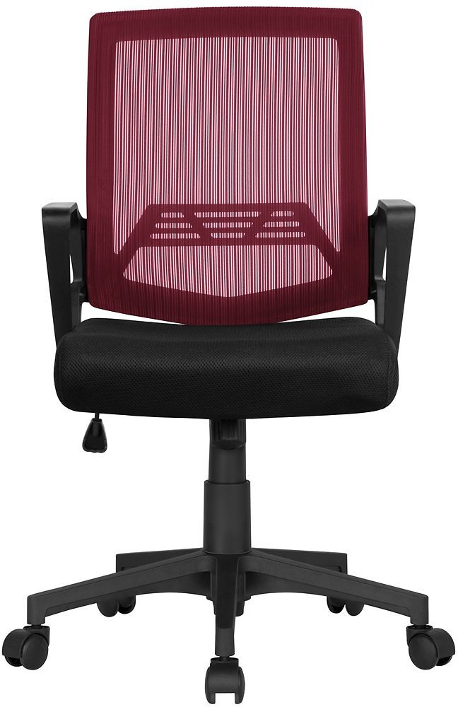 SmileMart Manager's Chair with Swivel & Reclining, 276 Lb. Capacity, Wine Red