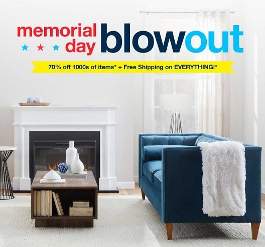 Memorial Day Blowout - On Sale Furniture