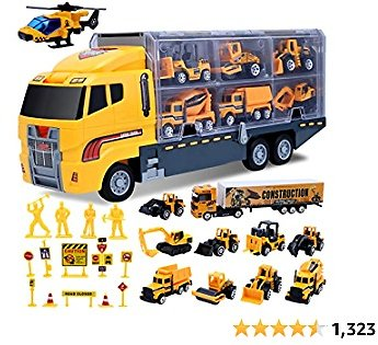 Toys for 3 Year Old Boys,25 Pcs Engineering Die-cast Construction Car Toddler Toys for Boys Vehicles Gifts Kids Toys for Age 3 4 5 6 7 Year Old Boys