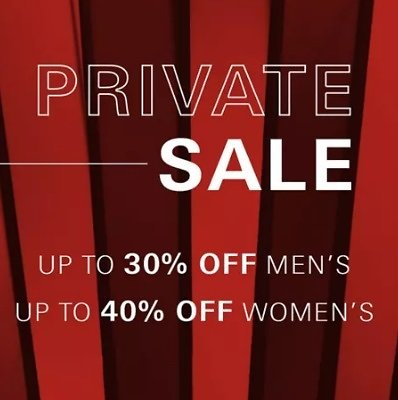 Up to 40% Off Private Sale