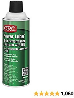 CRC - 3045 Power Lube Industrial High Performance Lubricant with PTFE, 16 Oz. (Net Weight: 11 Oz) Aerosol Can, Light Amber/White