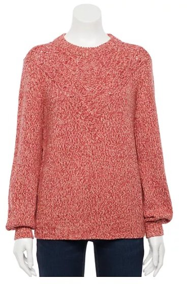 Womens Stitch-Detail Sweater (Mult. Colors)