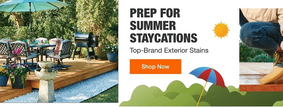 Prep For Summer - Top Brand Exterior Stains