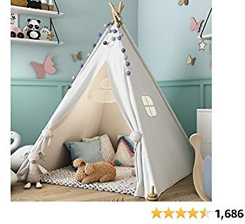 Sumbababy Teepee Tent for Kids with Carry Case..