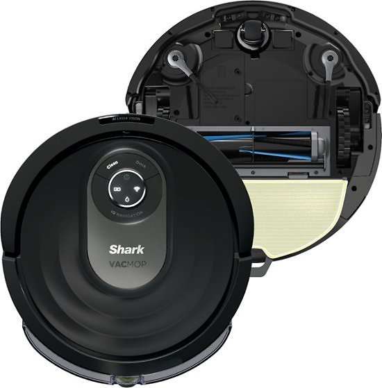 Shark AI Robot VACMOP™ PRO RV2001WD, Wi-Fi Connected, Robot Vacuum & Mop with Self-Cleaning Brushroll Black RV2001WD