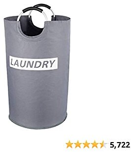 Lifewit 82L Large Laundry Basket Collapsible Clothes Hamper Durable Oxford Fabric Portable Folding Laundry Bin for Bedroom, Laundry Room, Closet, Bathroom, College, Grey