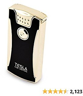 Tesla Coil Lighters USB Rechargeable Windproof Dual Arc Lighter (Gold)
