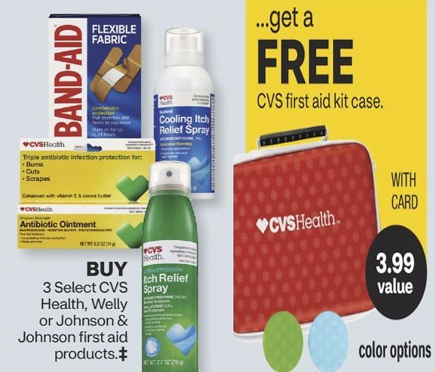 Get a Free First Aid Kit Case w/ Purchase of 3 Select First Aid Products