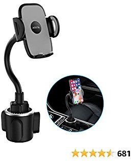 Universal Car Phone Mount with 360° Adjustable Gooseneck for Car Cup Holder, Hands-Free Car Phone Holder for IPhone, Samsung Galaxy, Google Pixel, Nexus, Moto and More