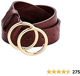 Get 40% Off Double Ring Buckle Womens Leather Belt Soft Western Designer Skinny Waist Casual GG Belts