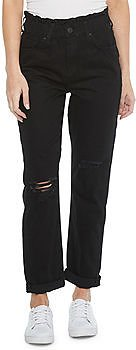 Womens Juniors High Rise Straight Fit Jean
