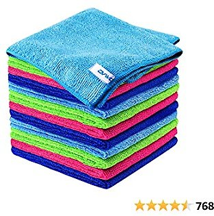 12Pcs Premium Microfiber Cleaning Cloth By Ovwo